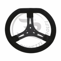 STEERING WHEEL COVERED WITH CHAMOIS LEATHER, BLACK COLOR Ø320MM