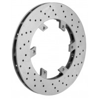 Self-ventilated rear brake disk Ø 206 x 16 mm